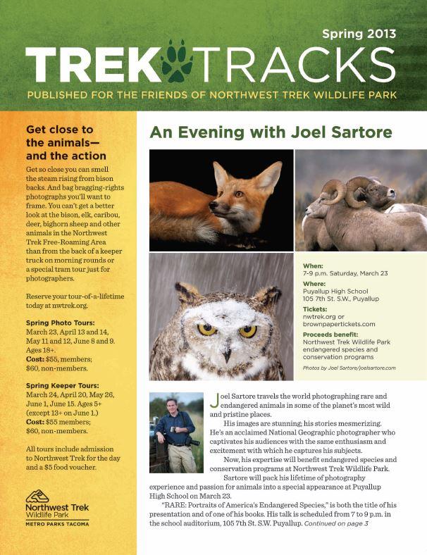 Trek Tracks newsletter spring 2013