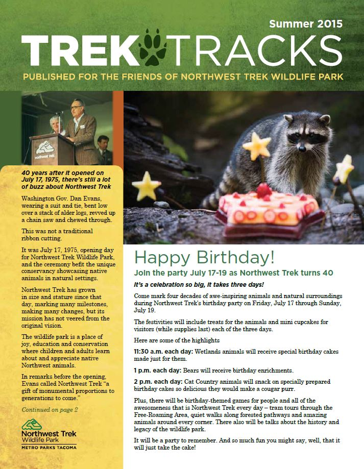 Trek Tracks newsletter summer 2015