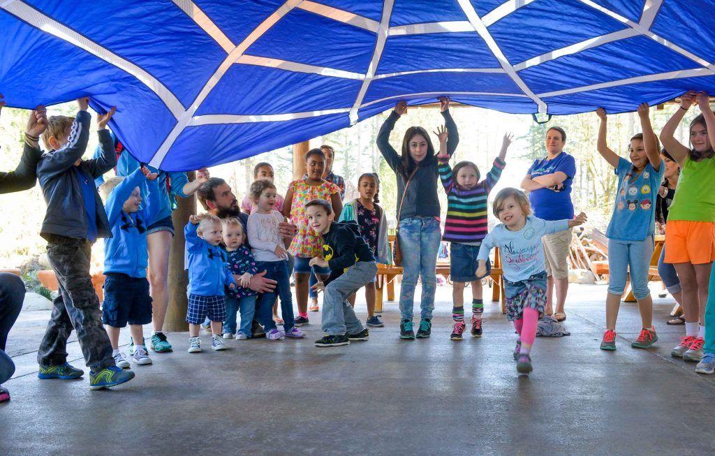 Birthday party parachute
