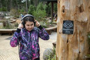 sensory girl at headphone zone