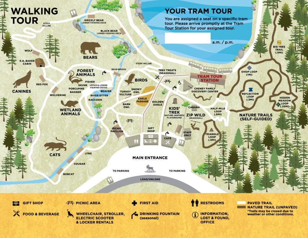 Northwest Trek Map