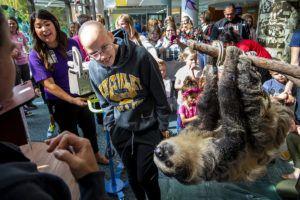 kids and sloth