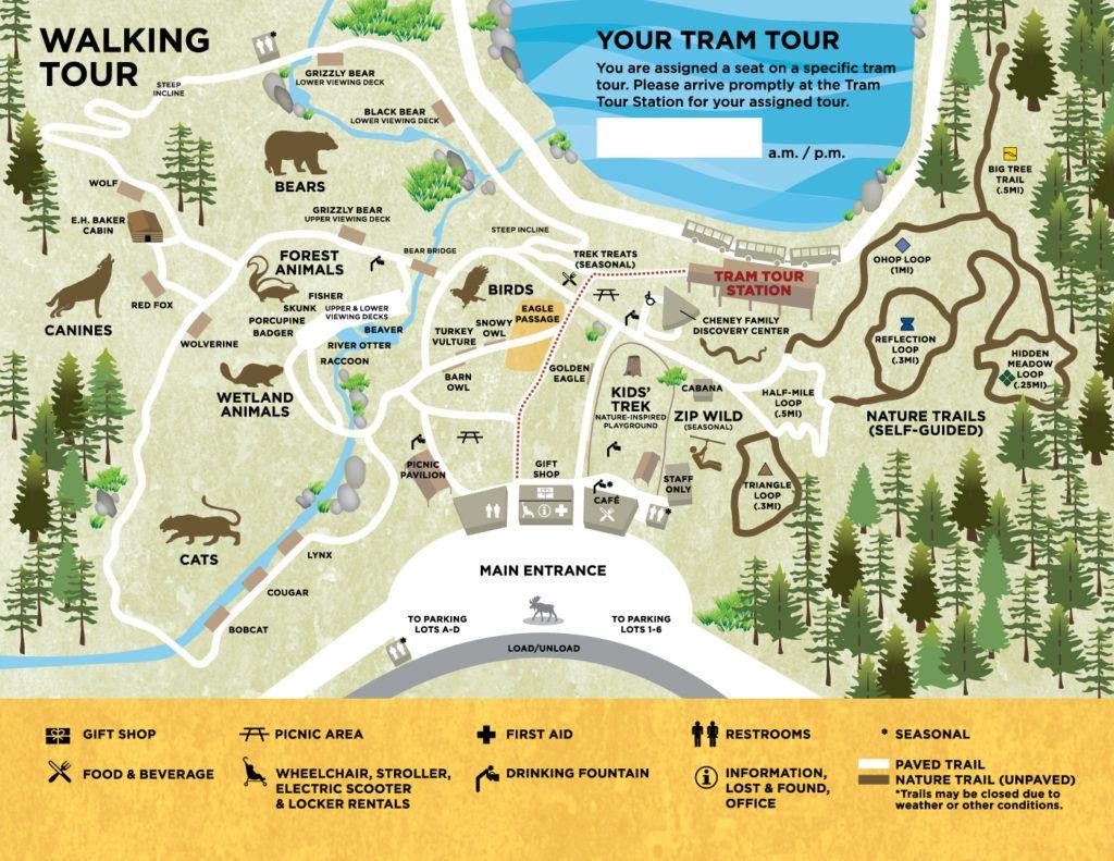 Northwest Trek Map