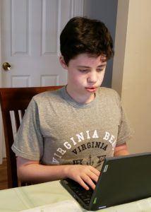 boy at laptop