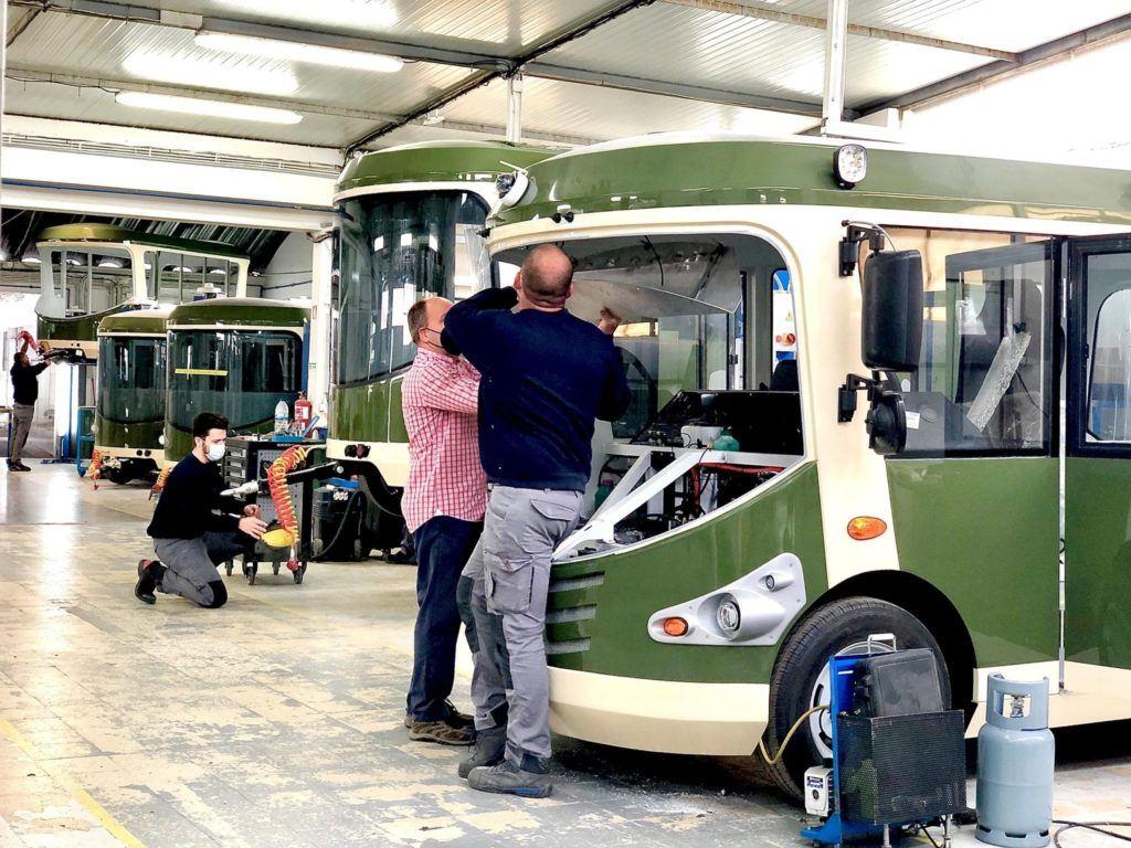electric tram people
